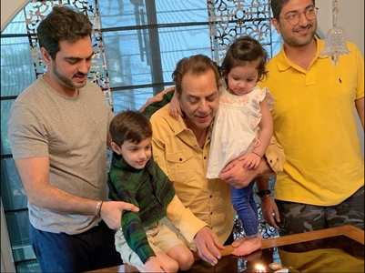 In pics: Dharmendra's bday celebration