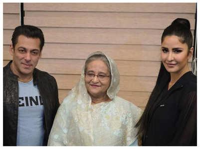 Photo: Salman and Katrina with Sheikh Hasina