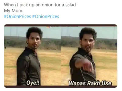 Bollywood memes on hiked onion prices