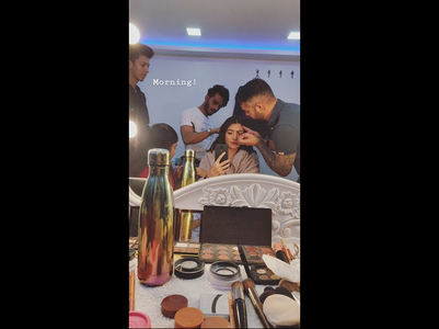 Pic: Anushka's morning selfie from the sets