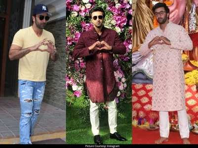 Pics: Ranbir is obsessed with the heart emoji