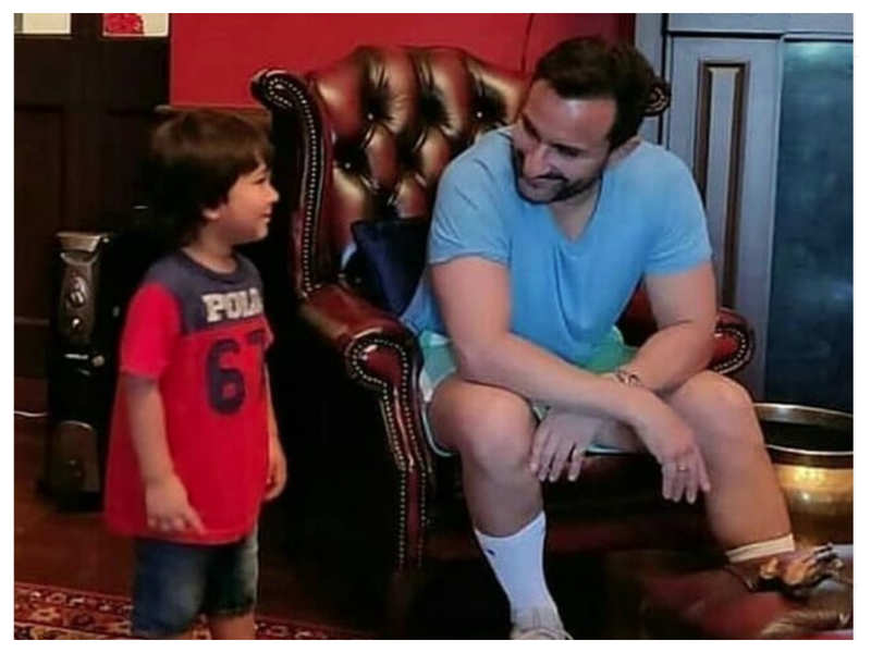 THIS picture of father-son duo Taimur and Saif Ali Khan is simply the cutest
