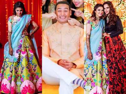 Sania Mirza's sister's Mehendi outfit is GORGEOUS