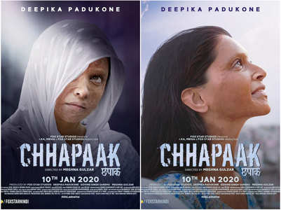 Deepika shares new posters of 'Chhapaak'