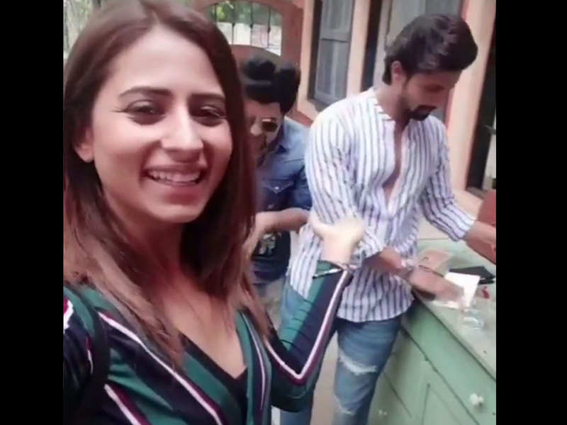Video: Sargun Mehta's funny video on hubby Ravi Dubey's debut song will leave you in splits