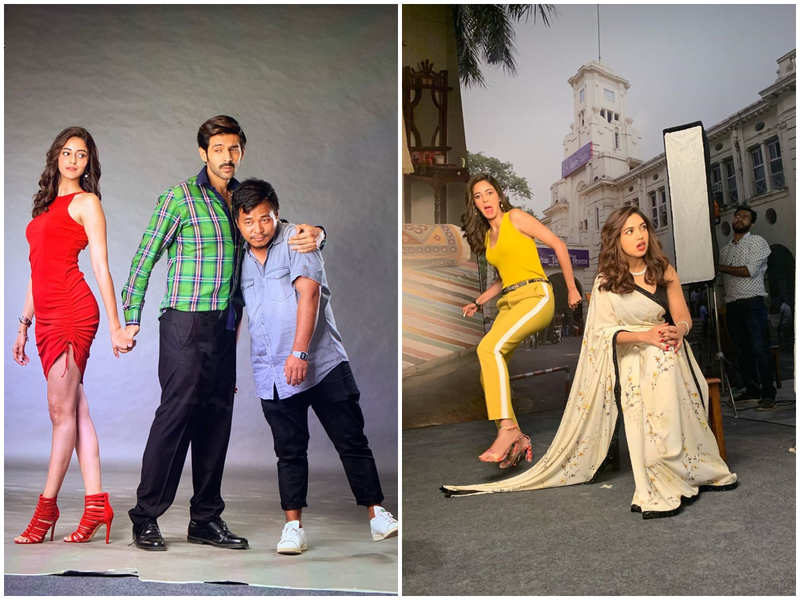 Ananya Panday shares goofy BTS pictures with her co-stars Kartik Aaryan and Bhumi Pednekar