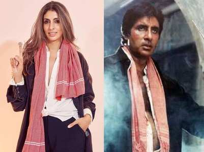 Shweta recreates Big B's character from 'Hum'