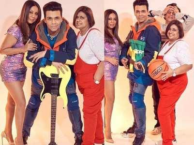 KJo, SRK & Gauri recreates #KuchKuchHotaHai