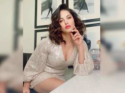 Sunny Leone looks beautiful in shimmery outfit