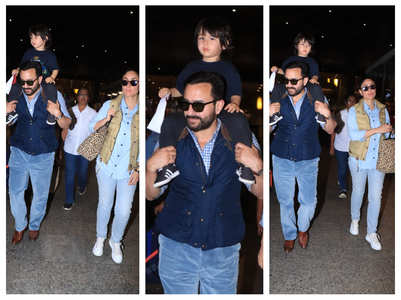 Pics: Tim returns to the bay with Bebo-Saif