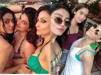 Beach mode on for Urvashi Dholakia