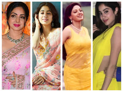Pics: Janhvi is a spitting image of her Sridevi