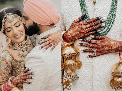 This bride's King and Queen Mughal mehendi is trending and you can't miss the henna design