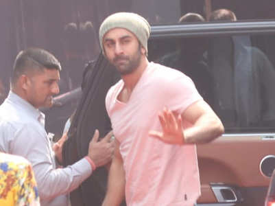 Ranbir spotted on the sets of his next film
