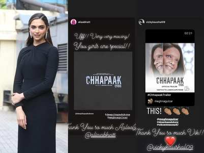 Alia-Vicky are all praises for DP's Chhapaak