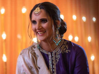 Sania Mirza wore a gorgeous sharara set for her sister's wedding celebrations