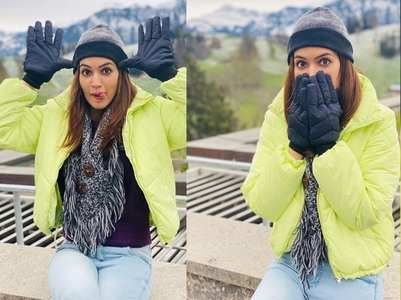 Pics: Kriti enjoys her vacation in Switzerland
