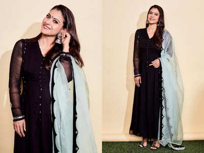 Kajol's black anarkali is best to slay this winter