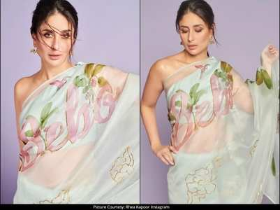 Kareena impresses in 'Bebo' saree!