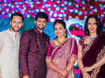 Saina Nehwal & other badminton players at Sai Praneeth's wedding reception
