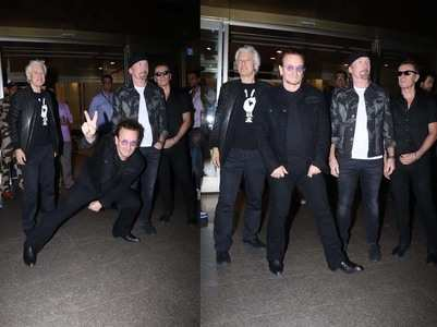 Photos: Irish rock band U2 arrives in Mumbai