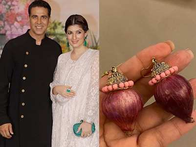 Akshay gets onion earrings for wifey Twinkle