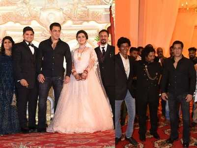 Salman at his makeup artist's son's wedding