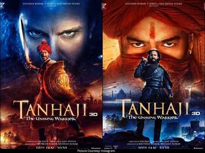 Tanhaji's posters featuring Ajay &Saif are out