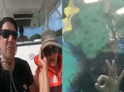 Madhuri shares a throwback video of snorkeling