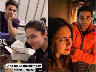 Divyanka celebrates birthday with Vivek