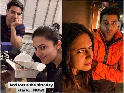 Divyanka celebrates birthday with Vivek