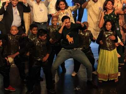 Watch: Varun dances with kids battling cancer