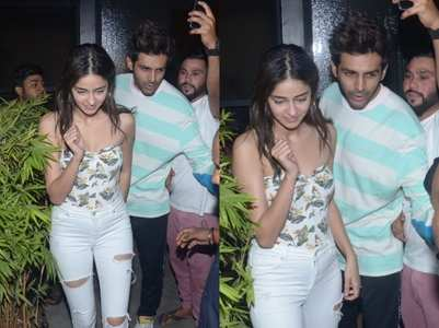 Photos: Kartik and Ananya spotted together