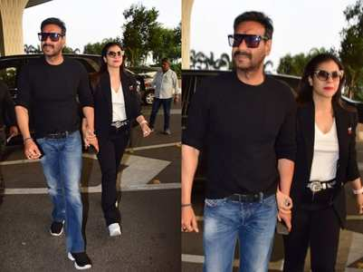 Ajay and Kajol make a stylish appearance
