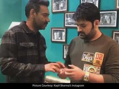 Kapil promotes Ajay's 'Tanhaji' - Watch!