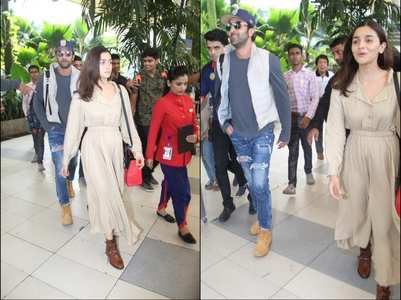 PHOTOS: Ranbir-Alia papped at the airport