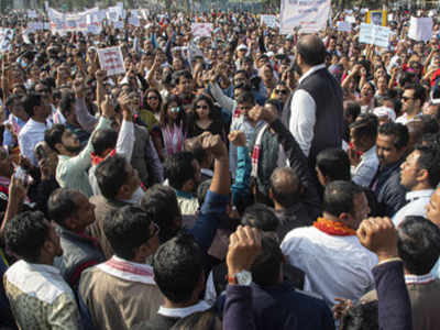 Image result for anti-CAA protester in Assam?