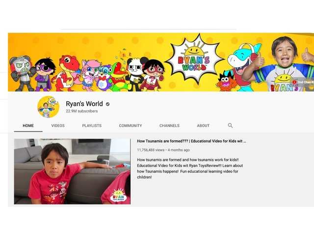 Meet the 8-year-old who earned $26 million and is the highest-paid YouTuber of 2019