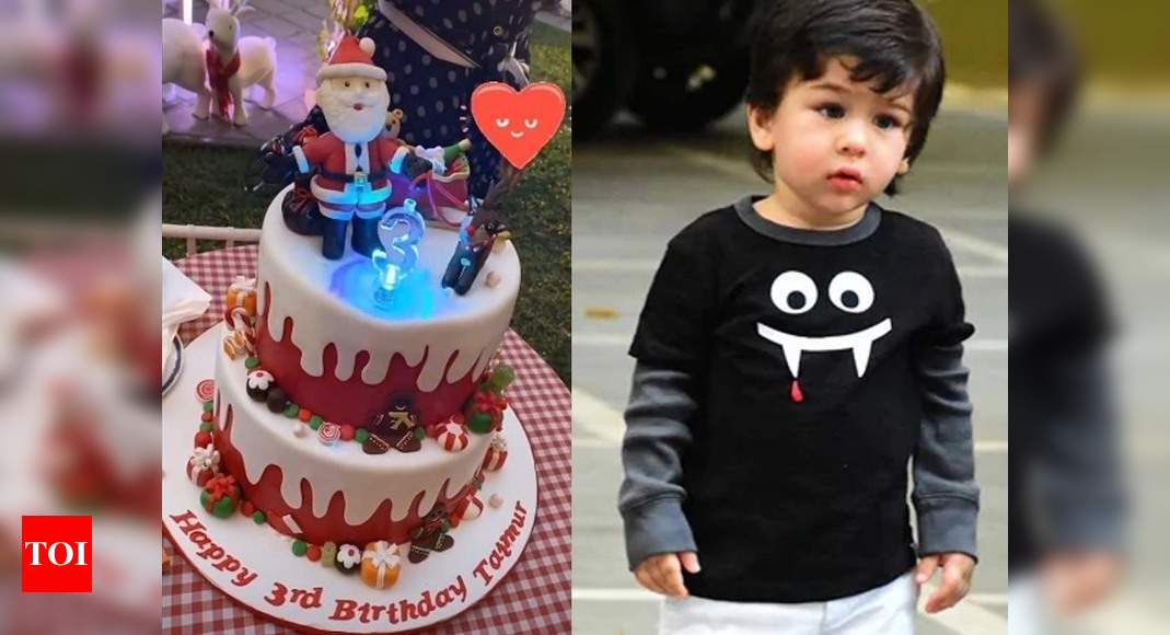 Brilliant Photo Taimur Ali Khan Cuts The Christmas Themed Cake On His 3Rd Funny Birthday Cards Online Eattedamsfinfo