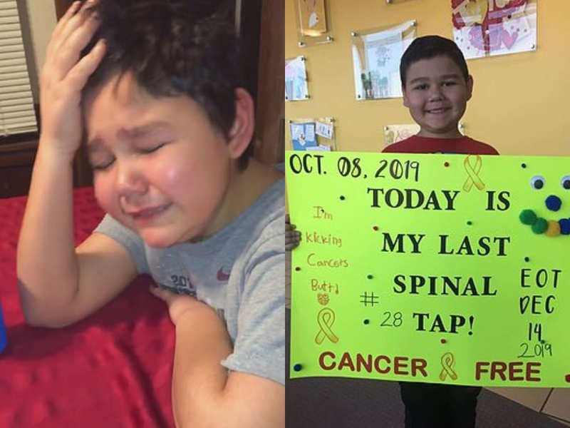 Nine-year-old cries happy tears after learning he is cancer-free!