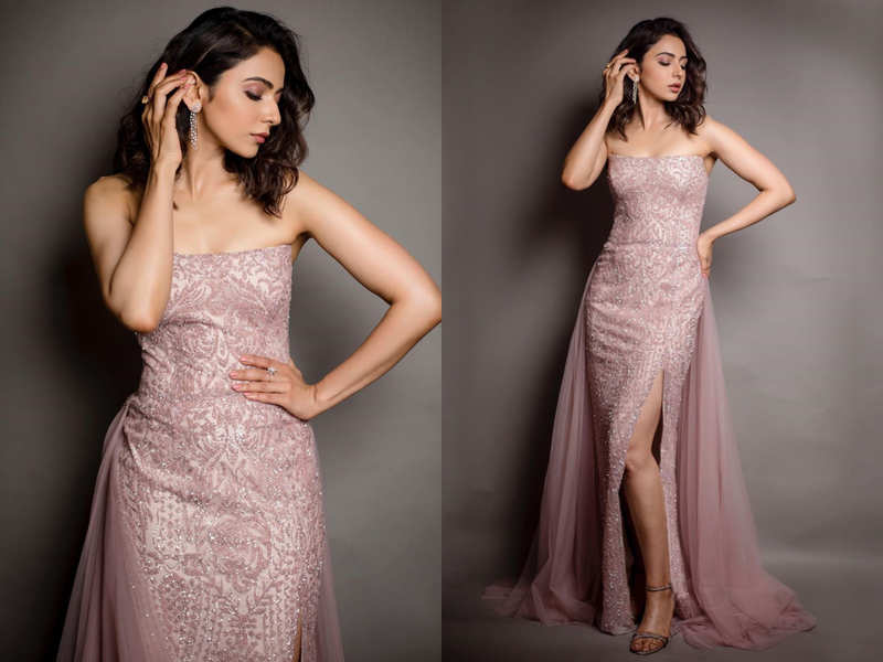 Rakul Preet Singh's thigh-high slit dress could be your wedding reception  gown - Times of India