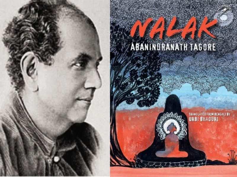 (L-R) Abanindranath Tagore and his book 'Nalak'(Photo: Niyogi Books)