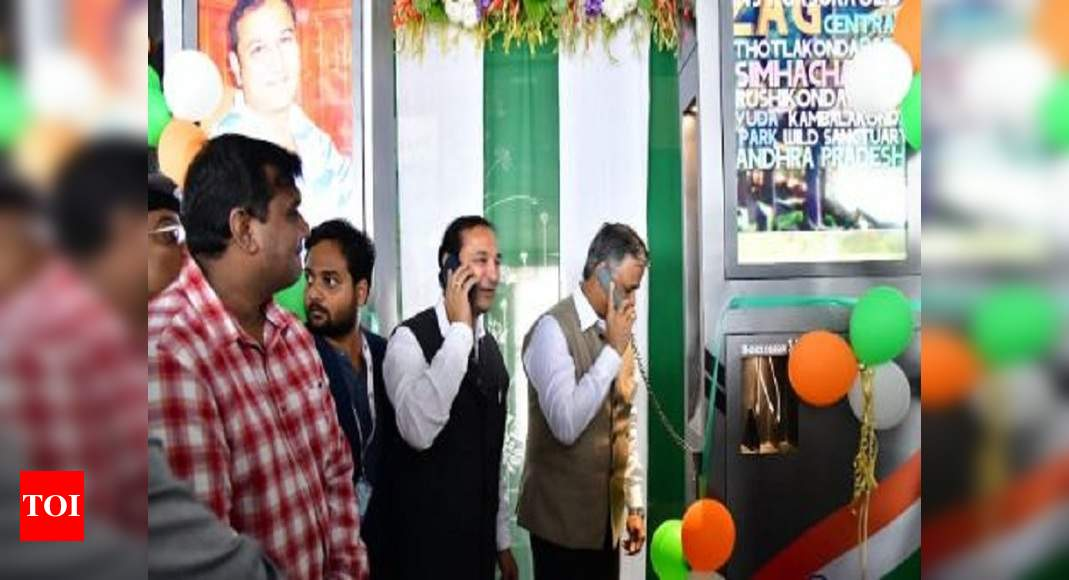 Free video calling kiosk launched at Vizag Railway Station : The Times of India