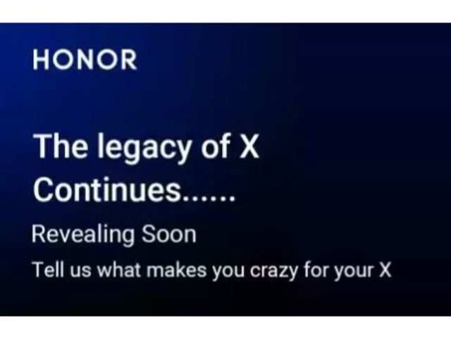 Honor teases X series phone on Flipkart
