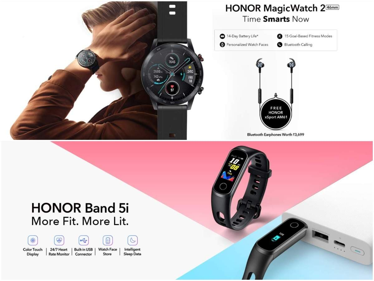Honor Magic Watch 2 Band 5i To Launch In India On January 10 Latest News Gadgets Now