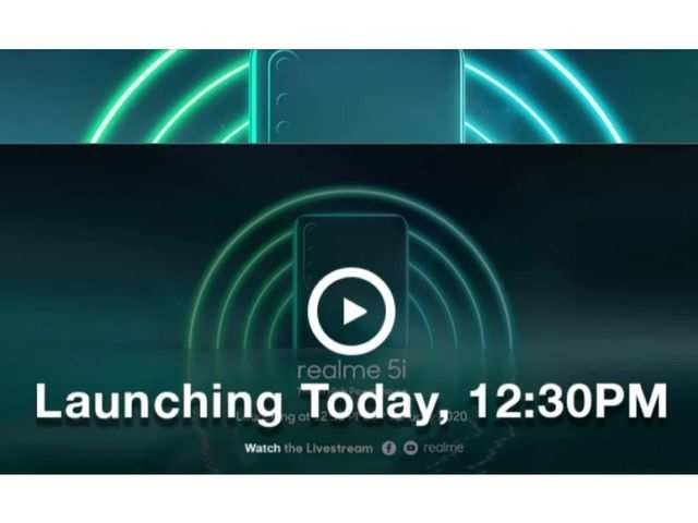 Realme 5i to launch in India today: How to watch the livestream