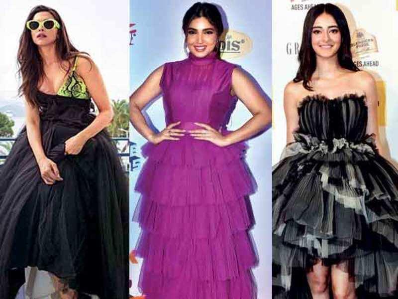 Deepika Padukone, Bhumi Pedekar and Ananya Panday wear tulle dresses