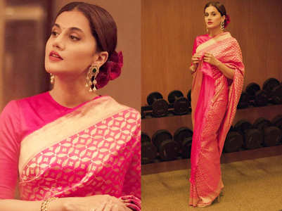 Taapsee Pannu wore the most gorgeous sari