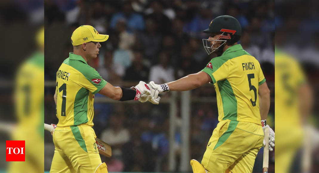 India vs Australia 1st ODI Live Score: Warner, Finch take Australia closer to victory