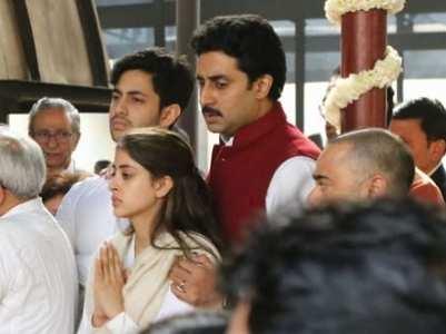 Abhishek consoles Navya at Ritu's funeral